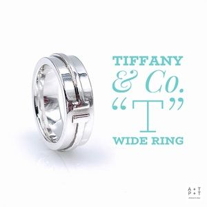 Tiffany & Co. T Wide Band In Sterling Silver